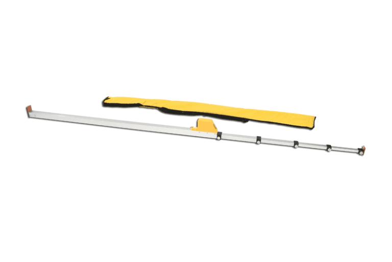 Misuratore di controllo per salto con l'asta di alluminio centimetrato
