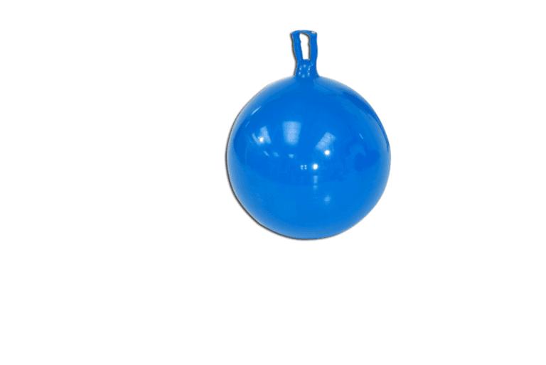 Palla in gomma gonfiabile con impugnatura per saltelli
