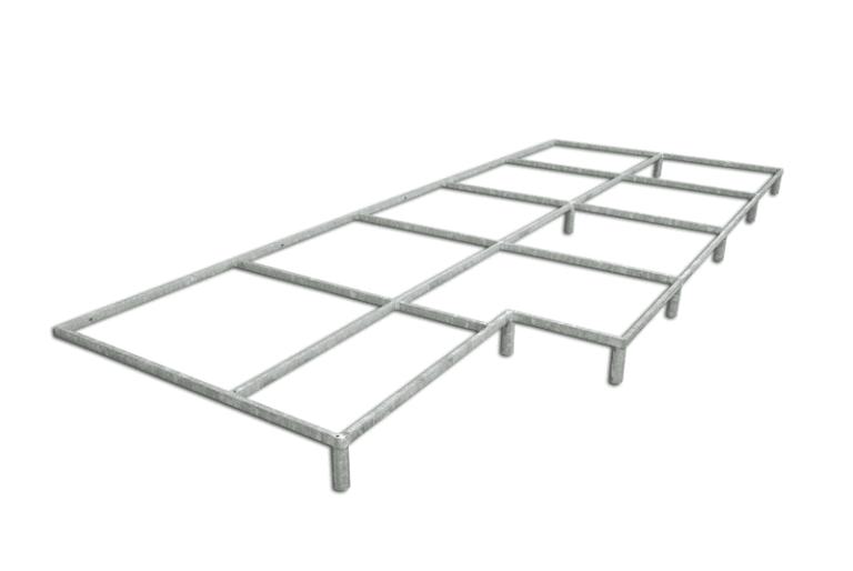 Piattaforma di sostegno e sollevamento area di caduta