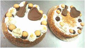 torte guarnite con biscotti