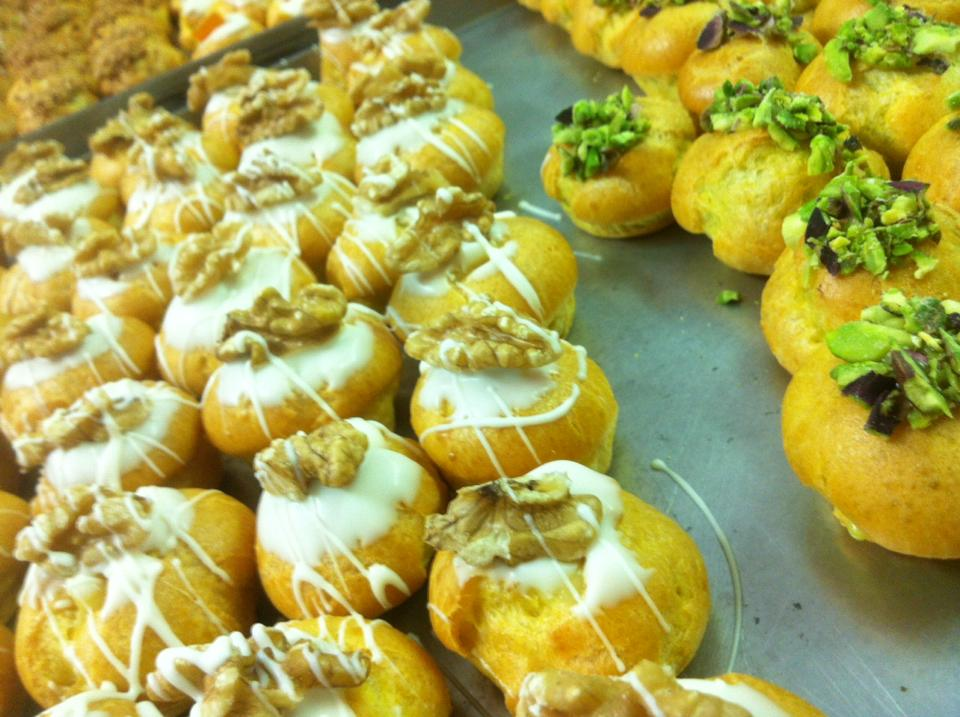 pasticcini alle noci ed al pistacchio