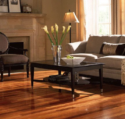 Hardwood flooring installed by trusted flooring company