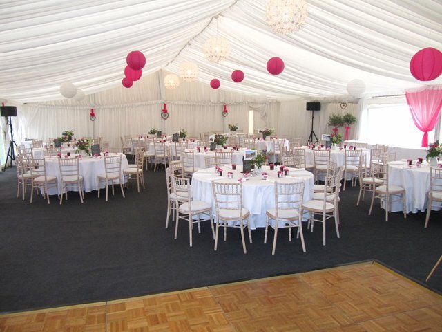 Marquees for garden parties