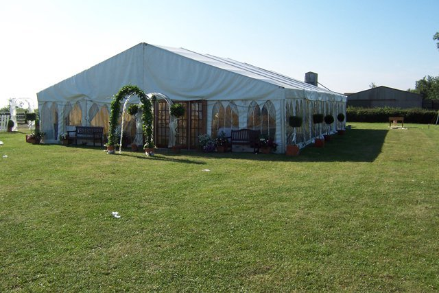 Marquees erected at venues