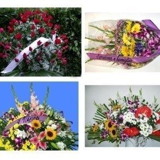 delle immagini di alcune composizioni di fiori