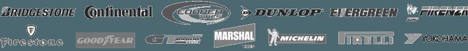 Tyre manufacturer logos