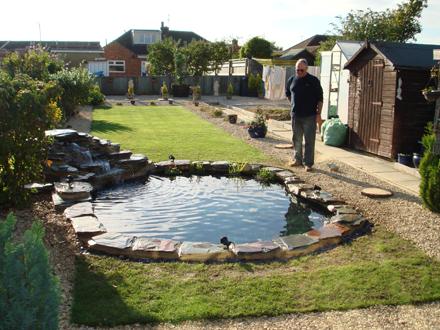 Recent projects swindon aquatic management services ltd for Fish pond base