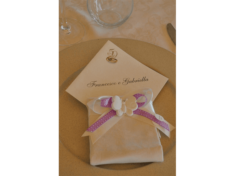 Posto tavola matrimonio