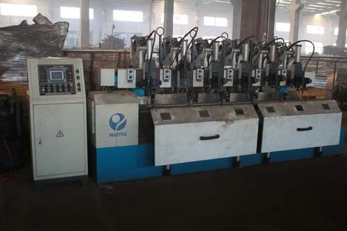 View of the machine used for manufacturing