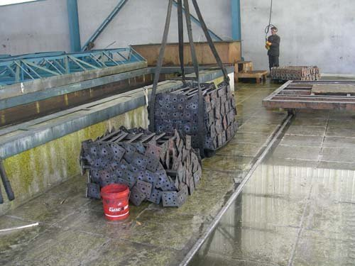 View of the raw material being used for manufacturing