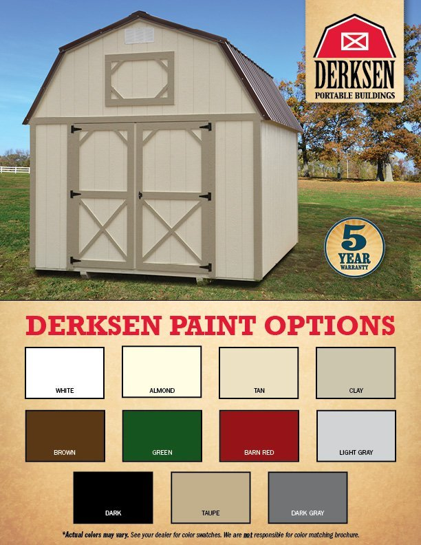 paint colors for portable buildings in arkansas