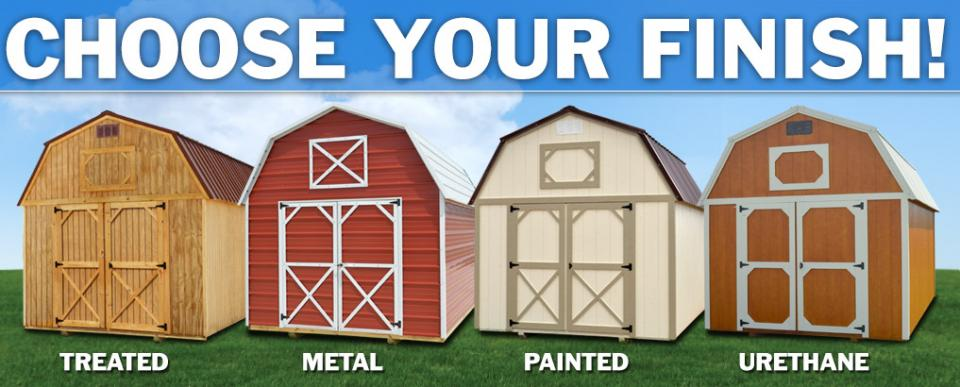 finishes for portable buildings