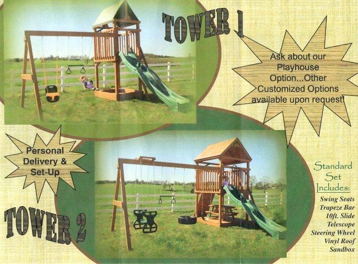 Topp Notch Woodworks wooden swing sets in Arkansas