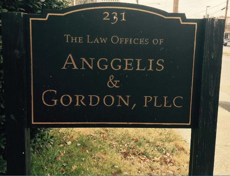 Sign for the Law Offices of Anggelis & Gordon