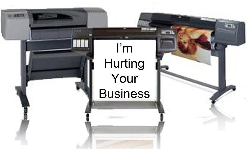 hp designjet plotter hurting your business