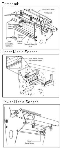 zebra printhead and media sensors