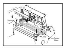 thermal printer snap plate