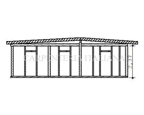 Sezione frontale della struttura
