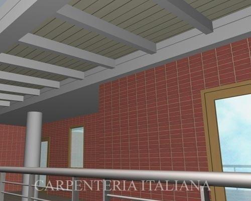 Progettazione tettoia per balconi