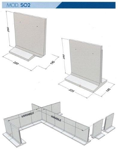 scheda tecnica per disposizione pannelli in cemento