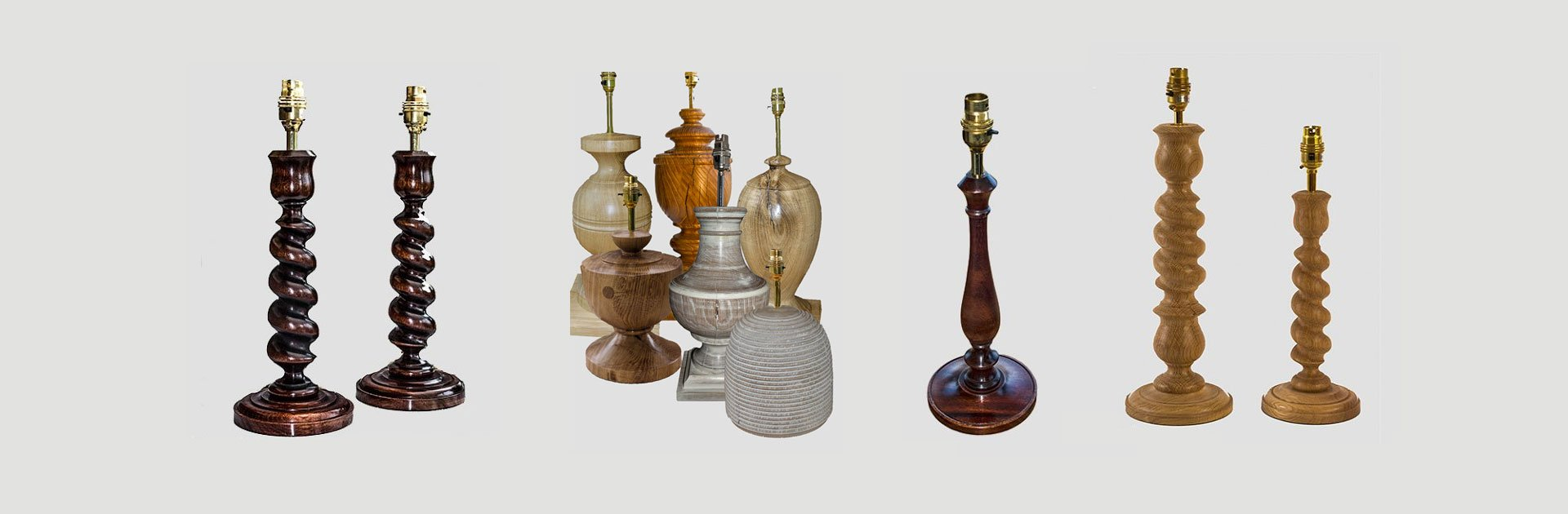 Different types of oak lamps