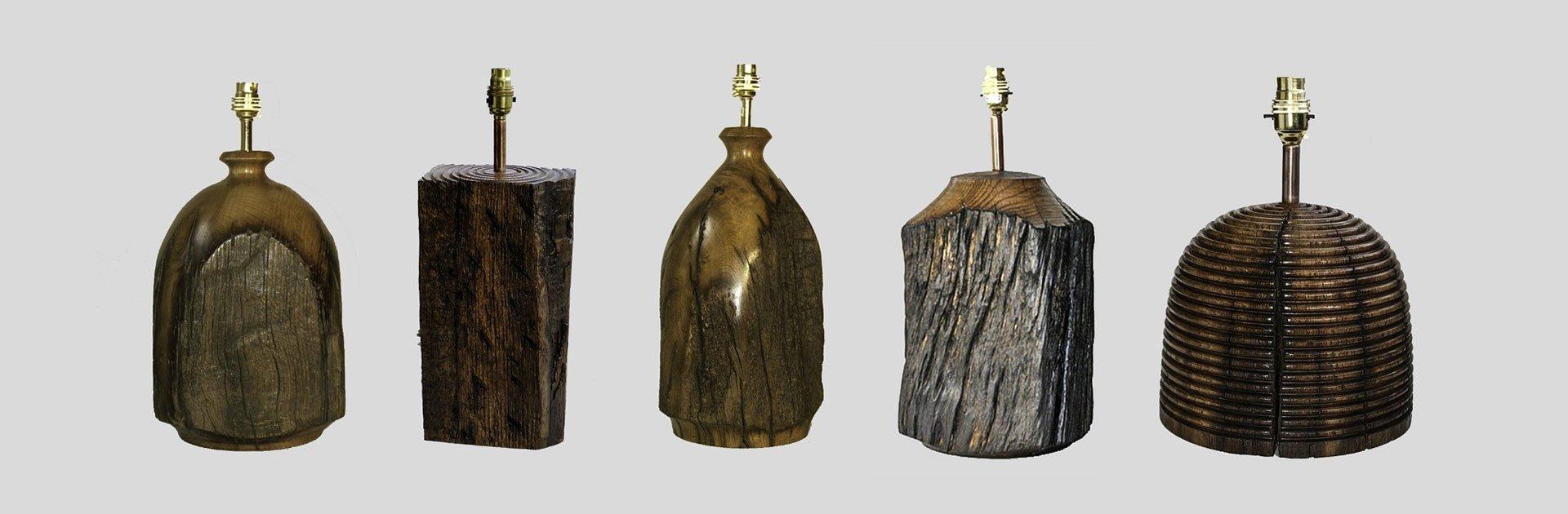Traditional oak lamps