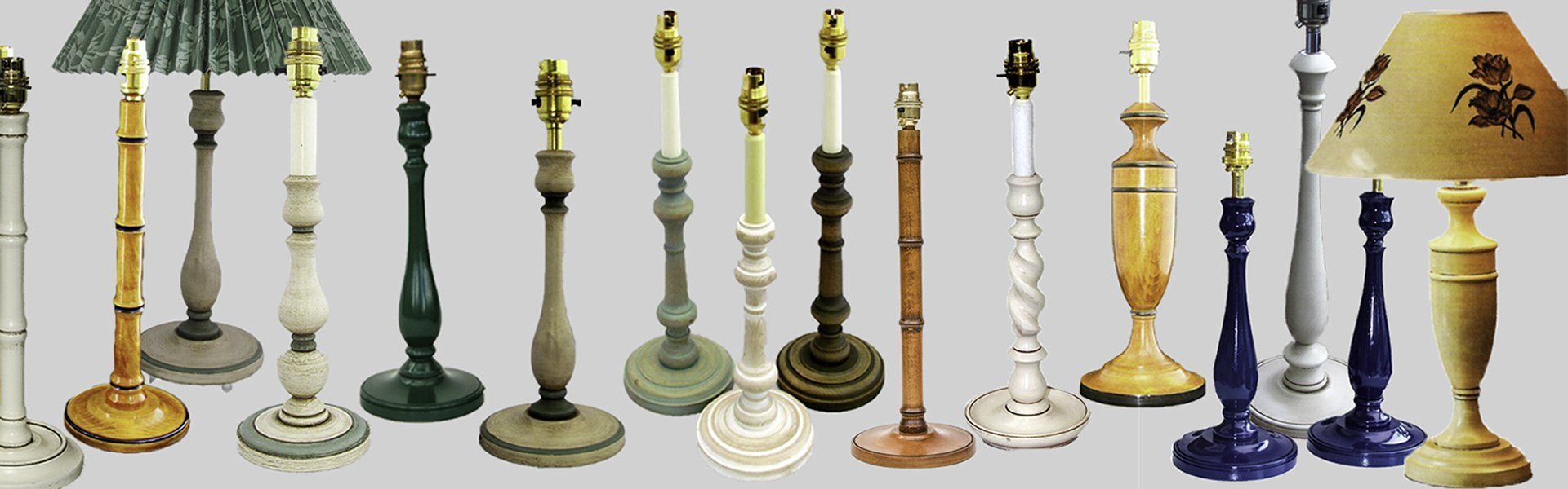 Our painted table lamps