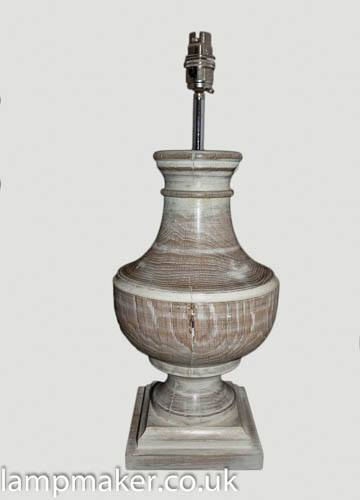 Large classical style wooden lamp