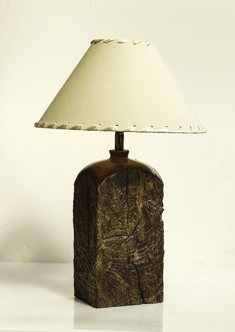 Handmade  old oak rustic beam lamp lamp