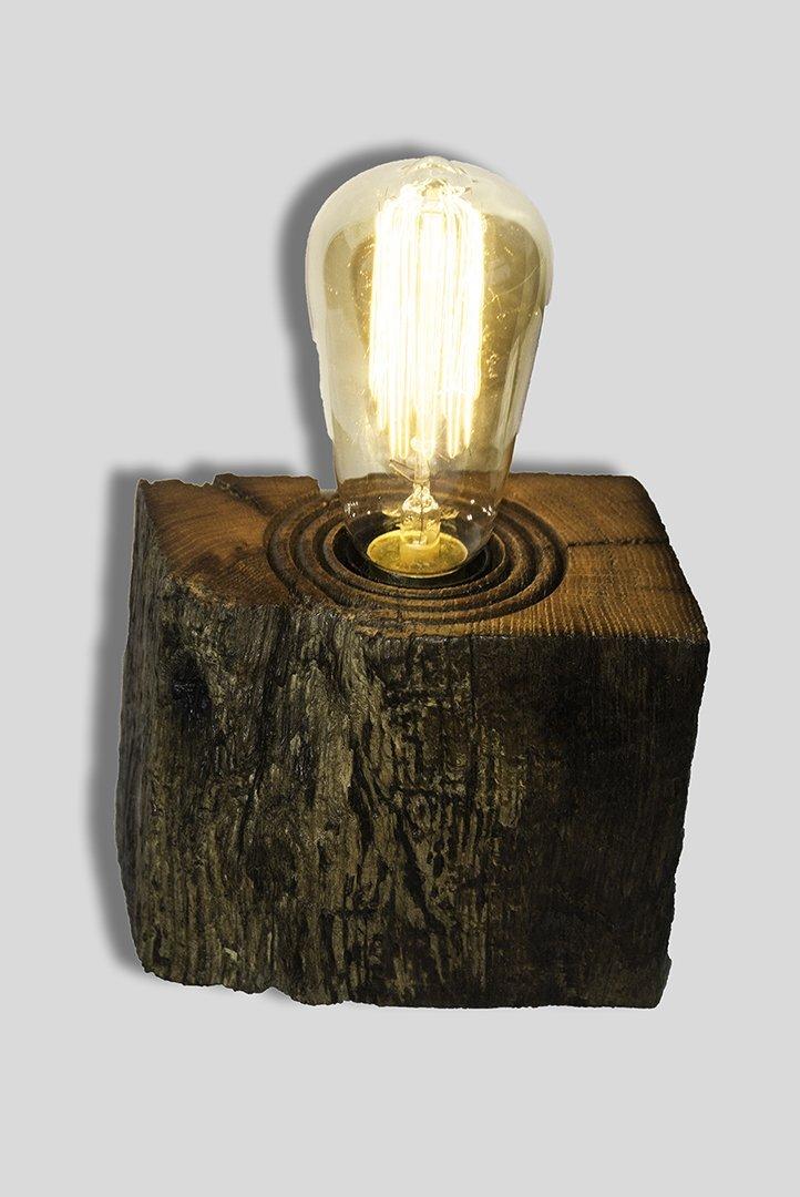 Rustic reclaimed Oak beam lamps