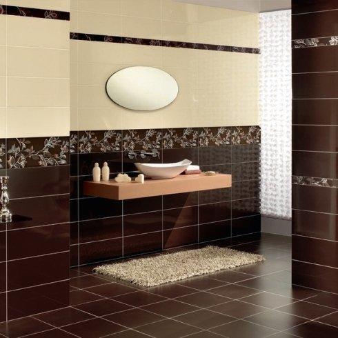 Bagno marrone e beige great esempio di una stanza da bagno design con bid piastrelle marroni - Bagno marrone e beige ...