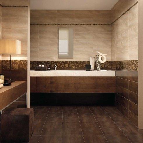 Bagno con rivestimento su pavimento e pareti in Grès Porcellanato