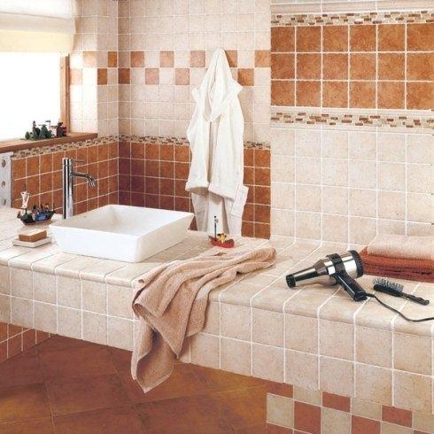 Bagno e lavandino rivestiti Monocottura