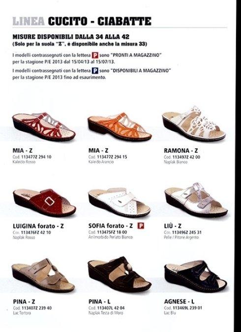 calzature ortopediche Linea Cucito Ciabatte