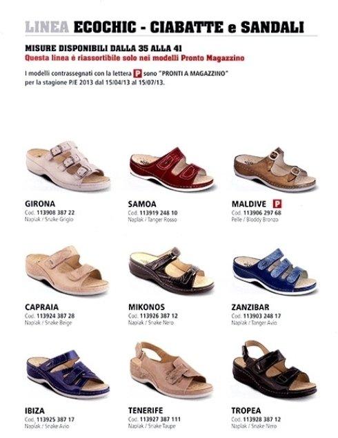 calzature ortopediche EcoChic - ciabatte e sandali