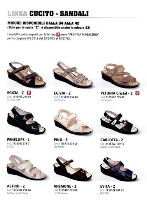 calzature ortopediche Linea Cucito Sandali