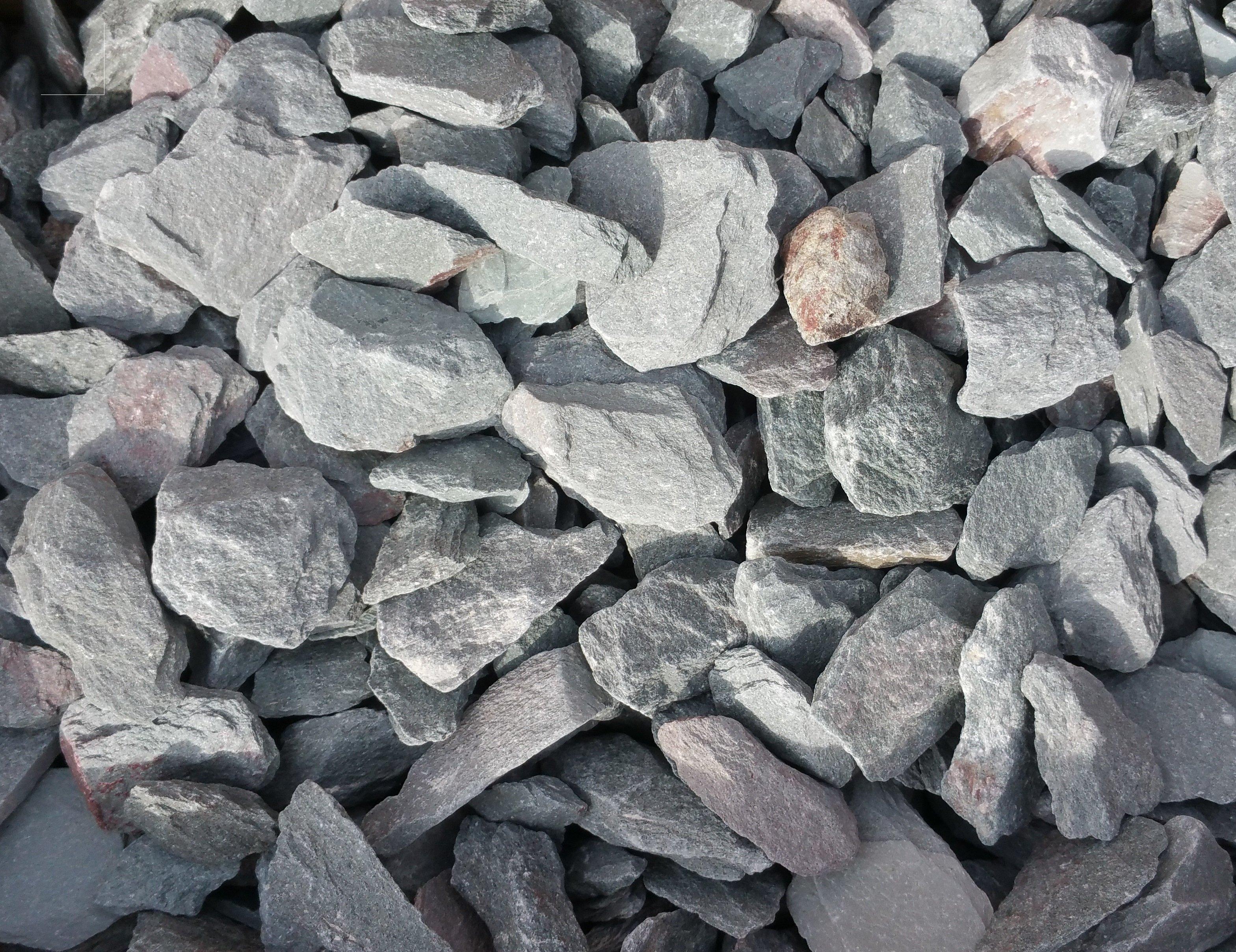 sharp stones