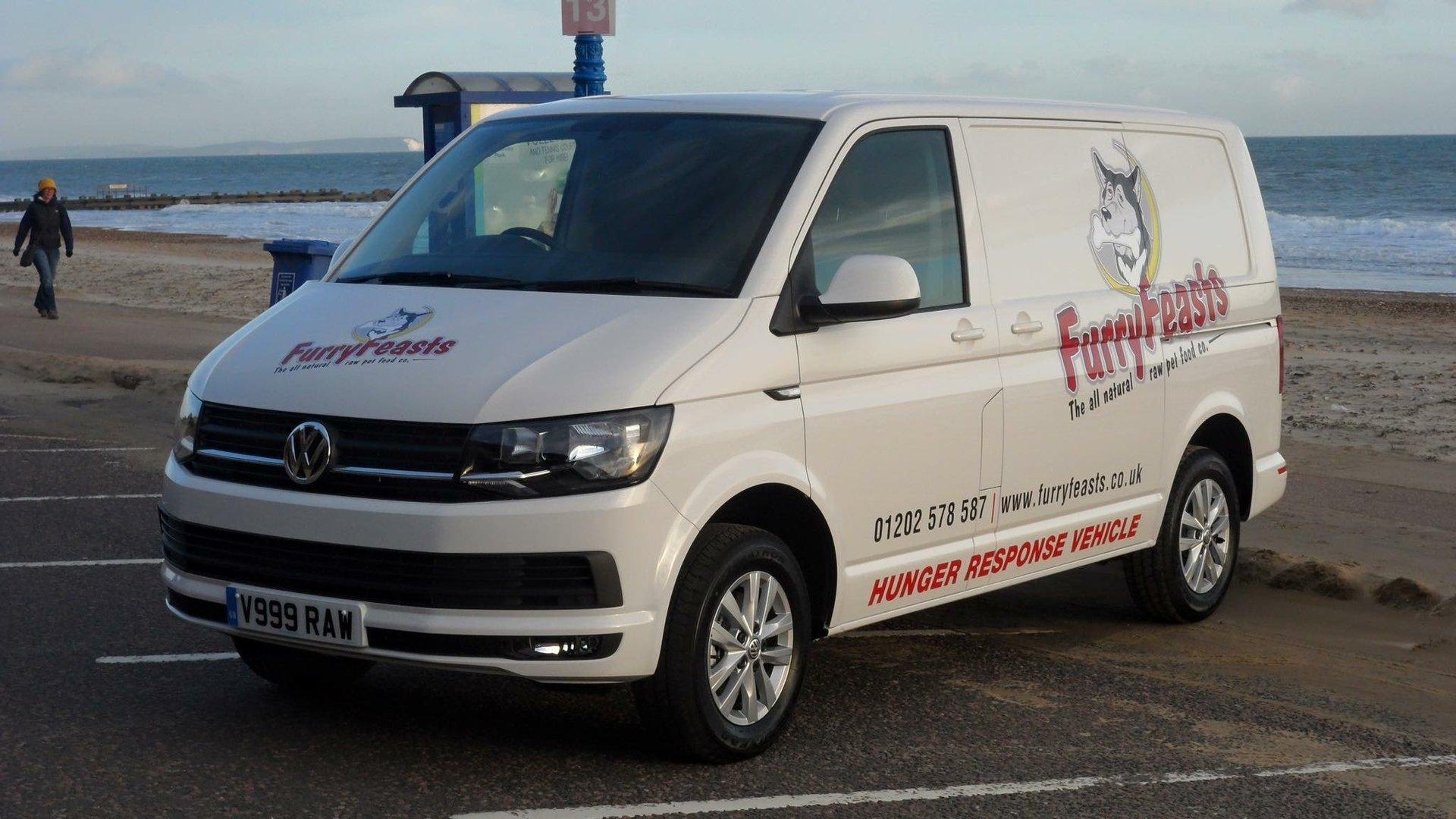Furry Feasts Delivery van