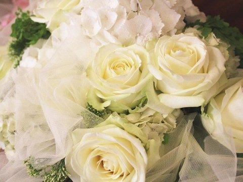 bouquet rose bianche