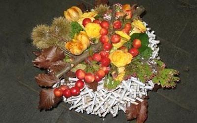 composizione floreale autunno