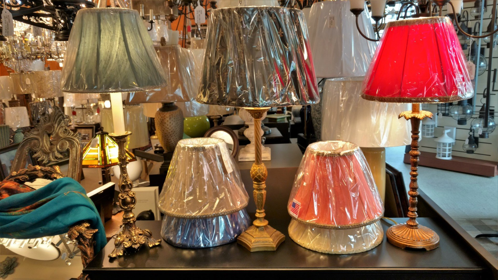 Avon lighting showroom 1000s of lamp shades available today a wide variety of lampshades and table lamps aloadofball Images