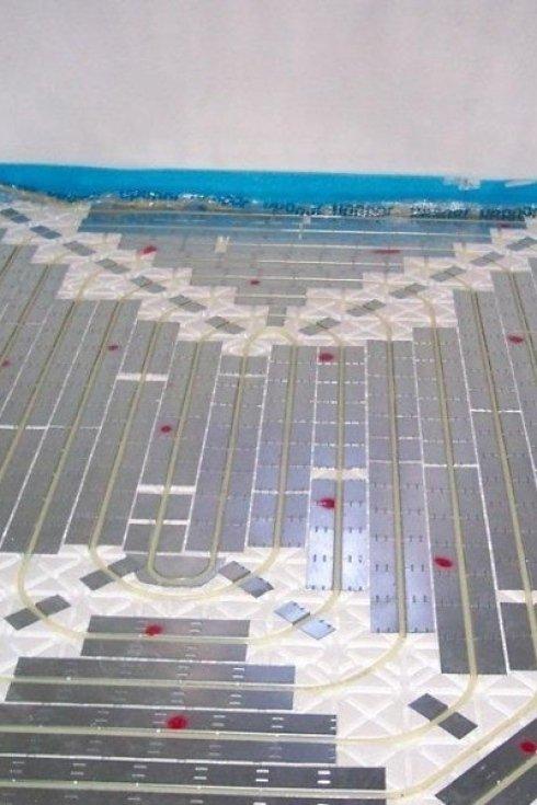 Impianto a pavimento realizzato dalla ditta.
