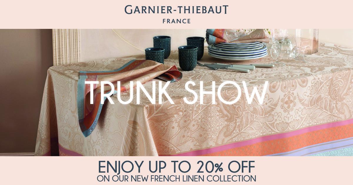 garnier thiebaut trunk show. Black Bedroom Furniture Sets. Home Design Ideas