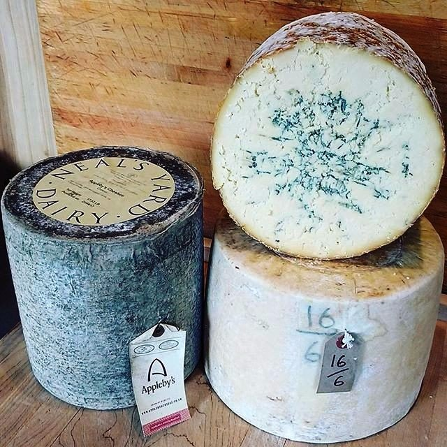 Appleby's Cheshire - the traditional cheese used in Welsh Rarebit, Lancashire - the last farmhouse raw-milk Lancashire produced in the world, and Colston Bassett Stilton
