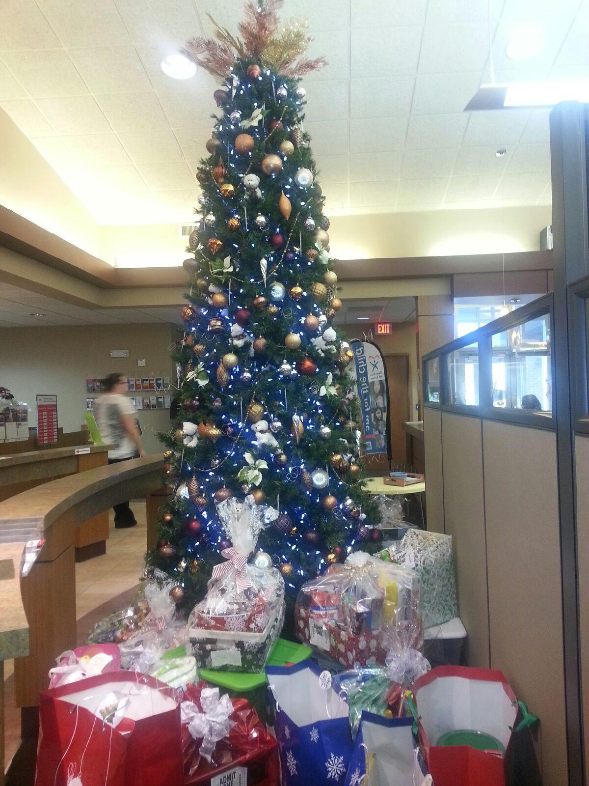 Christmas gifts for foster children donated by Parker Community Credit Union of Janesville and Lite 107.3