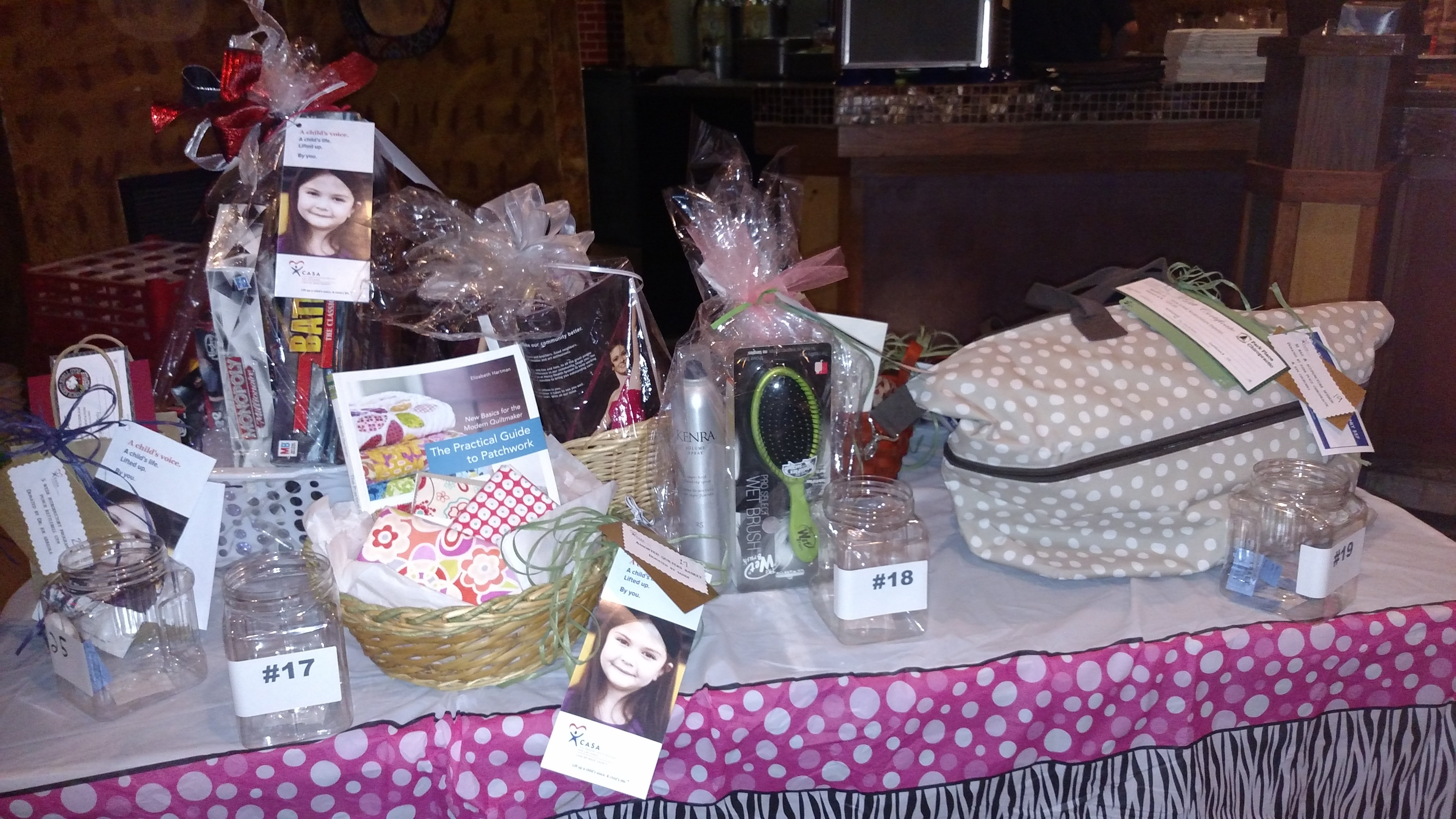 Raffle baskets for Girls Night Out event.  January 2015
