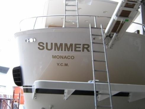 Scritte su Yacht Summer