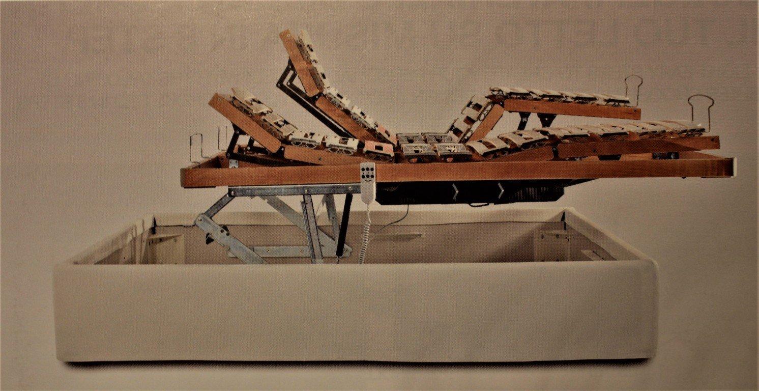 Doghe ad alzata automatica in barre di legno