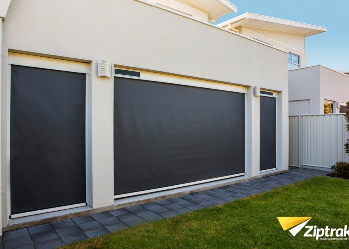 One of our many styles of outdoor blinds in Narellan.