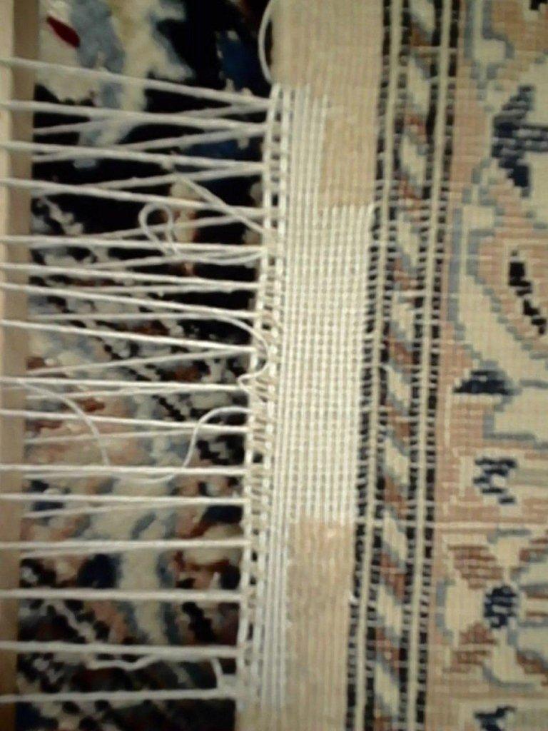 ricostruzione bordo di un tappeto